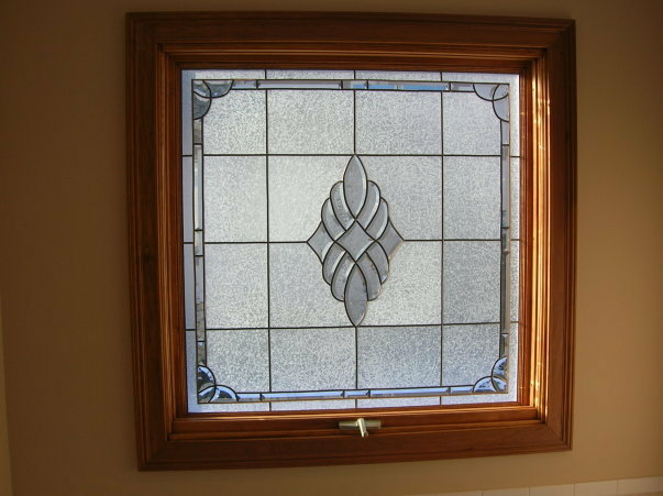 Bathroom Privacy Window Stained Glass Overlay