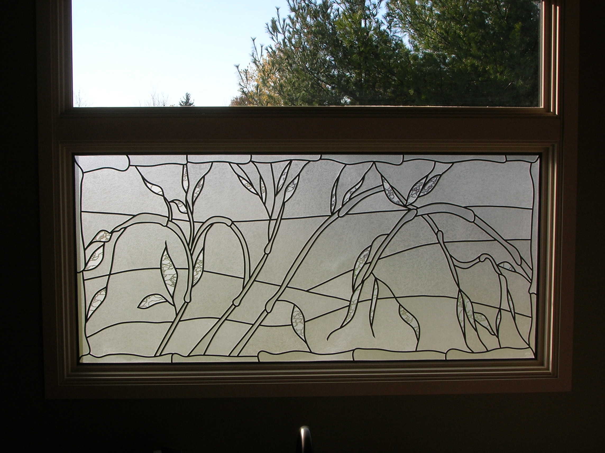 Bathroom Privacy Stained Glass Overlay