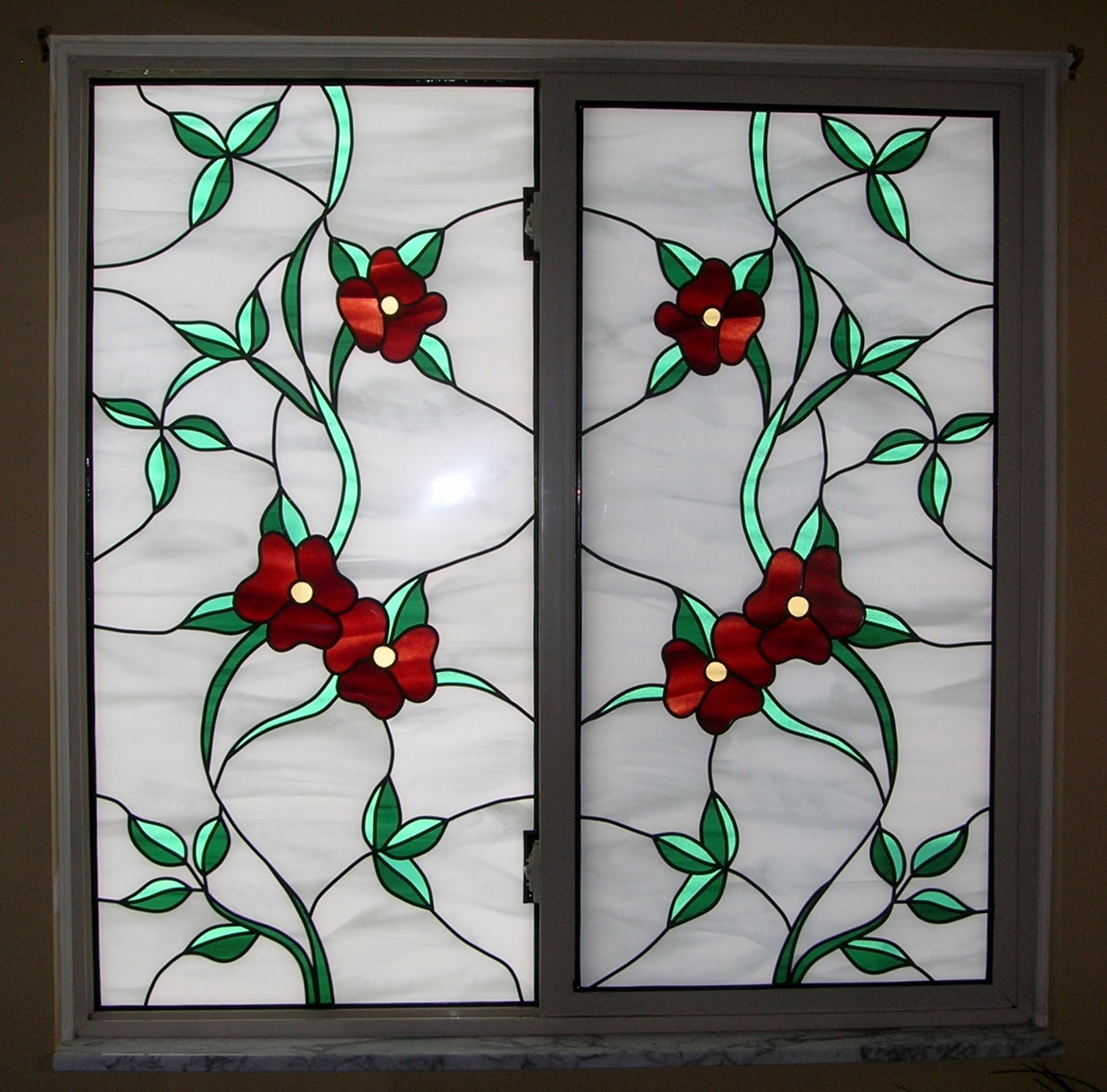 Bathroom Stained Glass Overlay