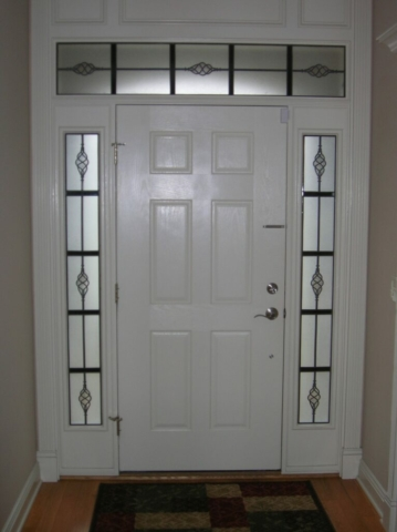 Transom and Sidelights Glass Overlay