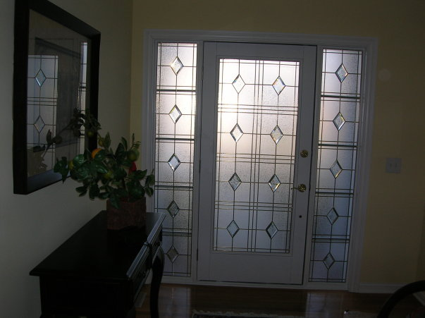 Stained Glass Privacy Glass Overlay