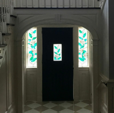 Stained Glass Overlay Entryway