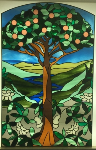 Stained Glass Overlay Tree