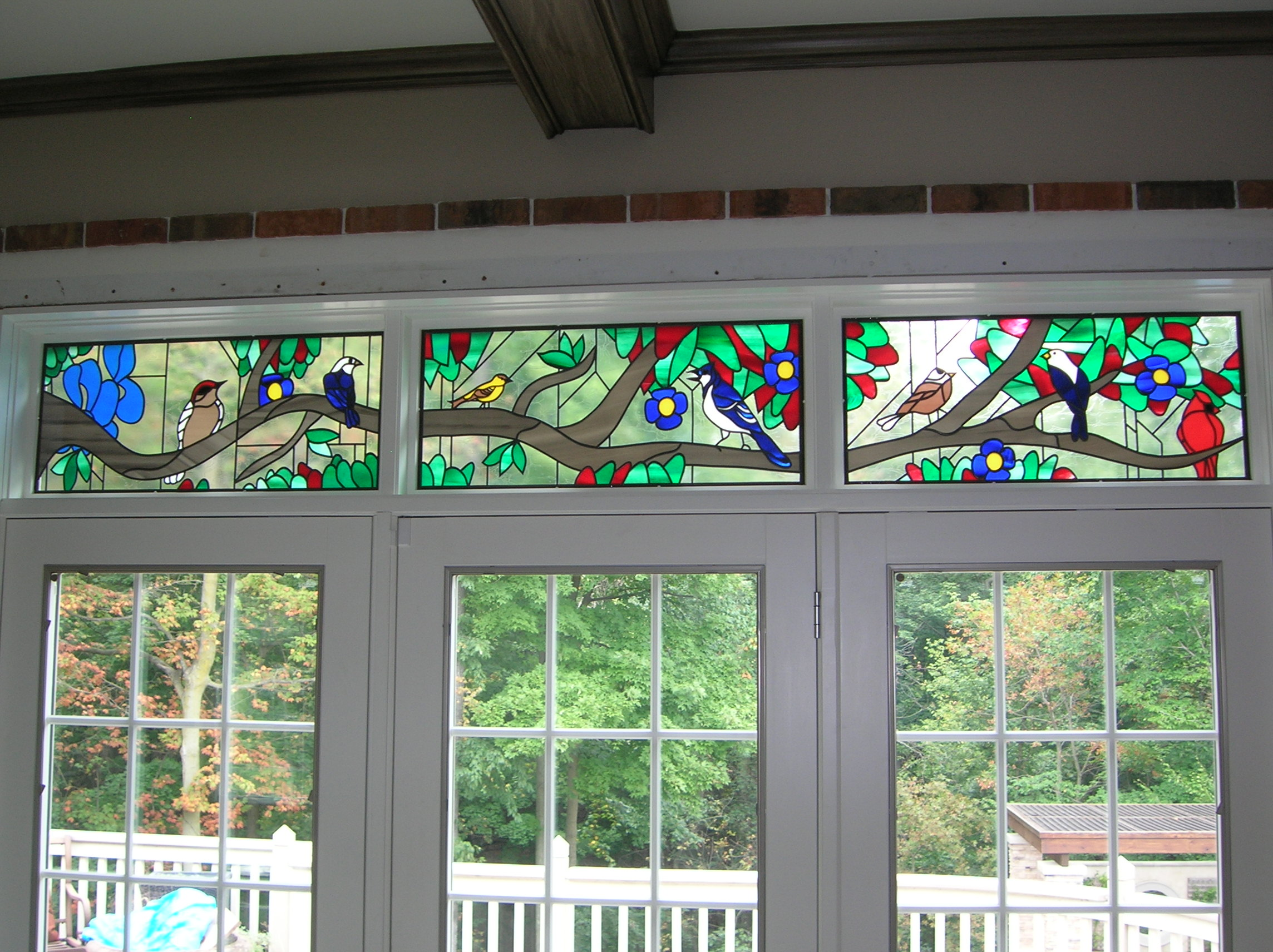 Stained Glass Overlay Transoms