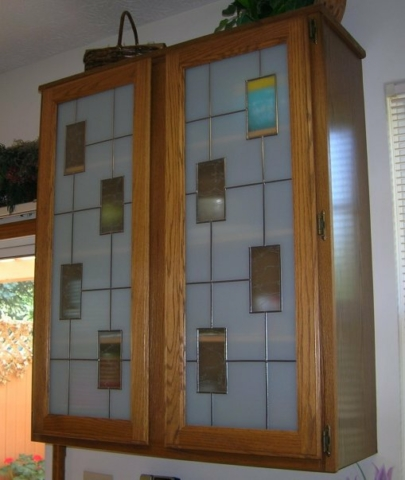 Kitchen Cabinets Stained Glass Overlay