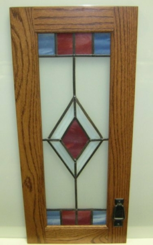 Kitchen Cabinet Glass Stained Glass Overlay