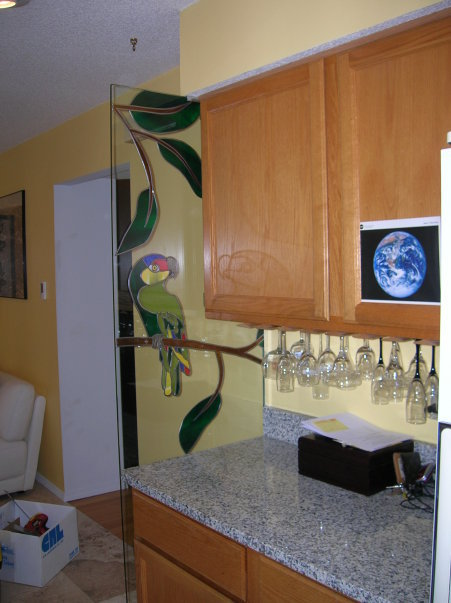 Room Divider Stained Glass Overlay